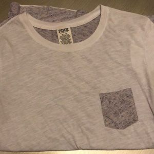 VS Pink pocket tee 60% cotton 40% polyester